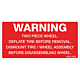 Warning Two Piece Wheel Decal