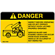 Danger Do Not Operate Without Hood Latches Decal