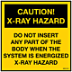 Pack of Caution X-Ray Hazard Decal