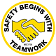 Safety Begins With Teamwork Hard Hat Emblem