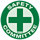 Reflective Safety Committee Hard Hat Emblem