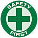 Pack of Safety First Hard Hat Emblem
