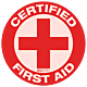 Certified First Aid Hard Hat Emblem