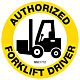 Authorized Forklift Driver Hard Hat Emblem