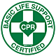 Basic Life Support Certified Hard Hat Emblem