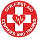 CPR/First Aid Certified and Trained Hard Hat Emblem