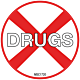 No Drugs Hard Hat Emblem