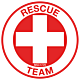 Rescue Team Hard Hat Emblem