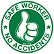Safe Worker No Accidents Hard Hat Emblem