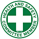 Health and Safety Committee Member Hard Hat Emblem