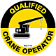 Qualified Crane Operator Hard Hat Emblem