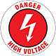 Danger High Voltage Floor Graphic - 17 Inch