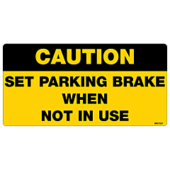 Set Parking Brake Decal