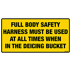 Body Safety Harness Decal