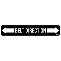 Belt Direction Decal