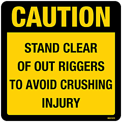 Caution Stand Clear of Out Riggers Decal