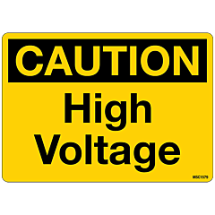 Caution High Voltage Decals, Pack of 10