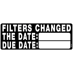 Filter Change Decal