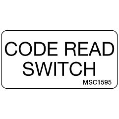 Code Read Switch Decal