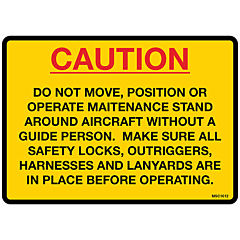 Caution Do Not Move Decal